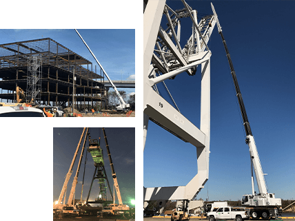 Industrial and construction crane rentals