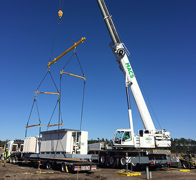 Crane rental for Power Companies
