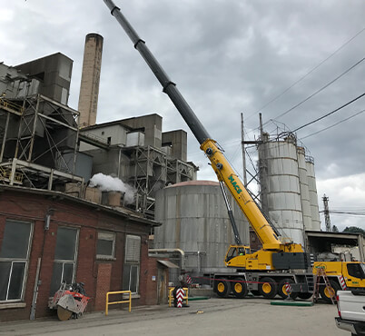 Cranes for Paper and Pulp Industry rentals